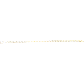 Vintage 14 K Yellow Gold Rope Chain Bracelet