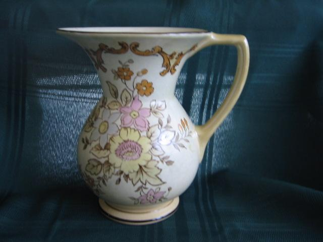 British Roshyl Floral Pitcher English Pottery