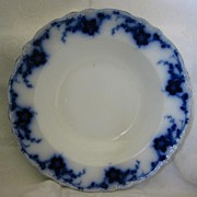 "Beautiful Flow Blue China Soup Plate - Alfred Meakin- Pattern ""Oakley"""