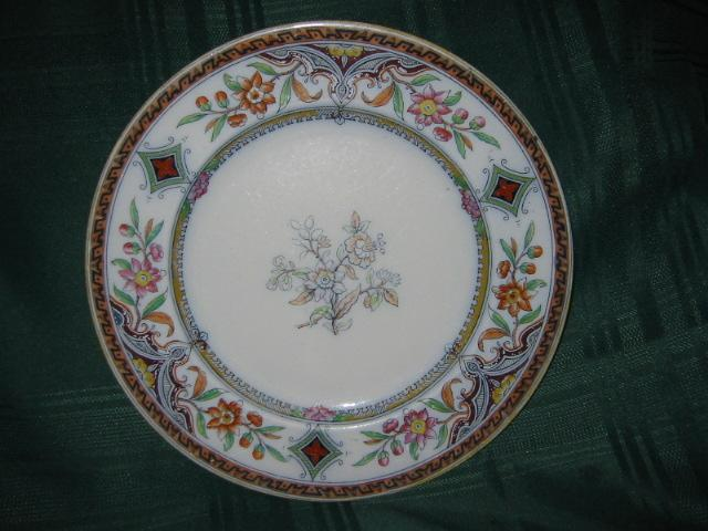 "Oriental Polychromed  Earthenware Plate: Pattern ""Canton"""