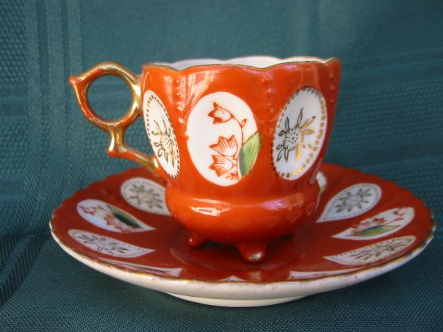 Miniature Child Size Elegant China  Cup & Saucer: Royal Sealy Japan