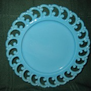 Turquoise Gem Glass Plate 8 1/2""