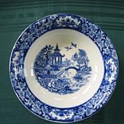 Flow Blue Bowl :Blue Willow