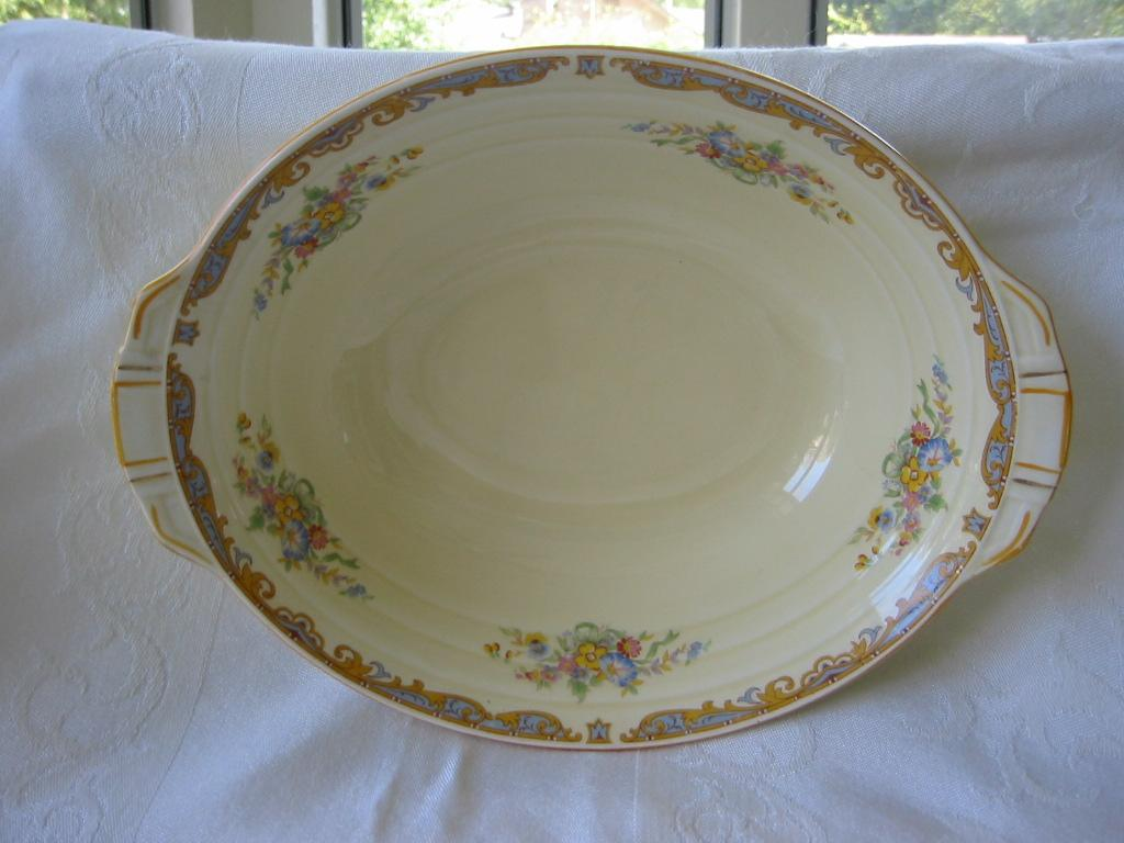 "Vegetable Bowl Grindley Floral Pattern ""Ludlow"""