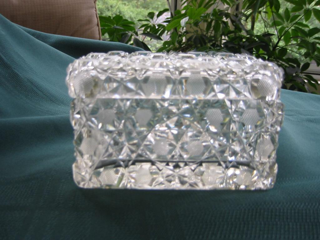 Cut Crystal Glass Box for Jewelry