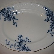 "Vintage Parisian Granite Platter  Pattern ""May Blossom "" By Booths- English"