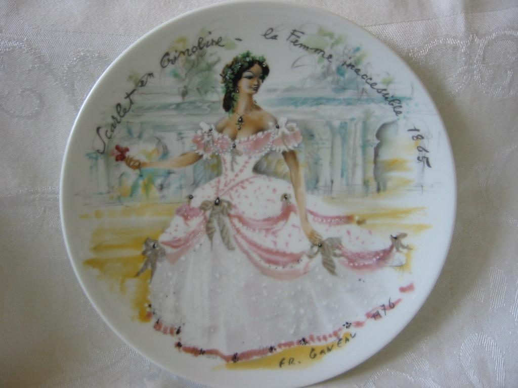 "Collector Plate 1 ""  Women Of The Century"" by Ganeau  ""Scarlet in Crinoline"""
