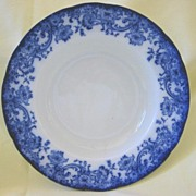 "Large Flow Blue Bowl   Doulton  Pattern ""Melrose"" 1800's"