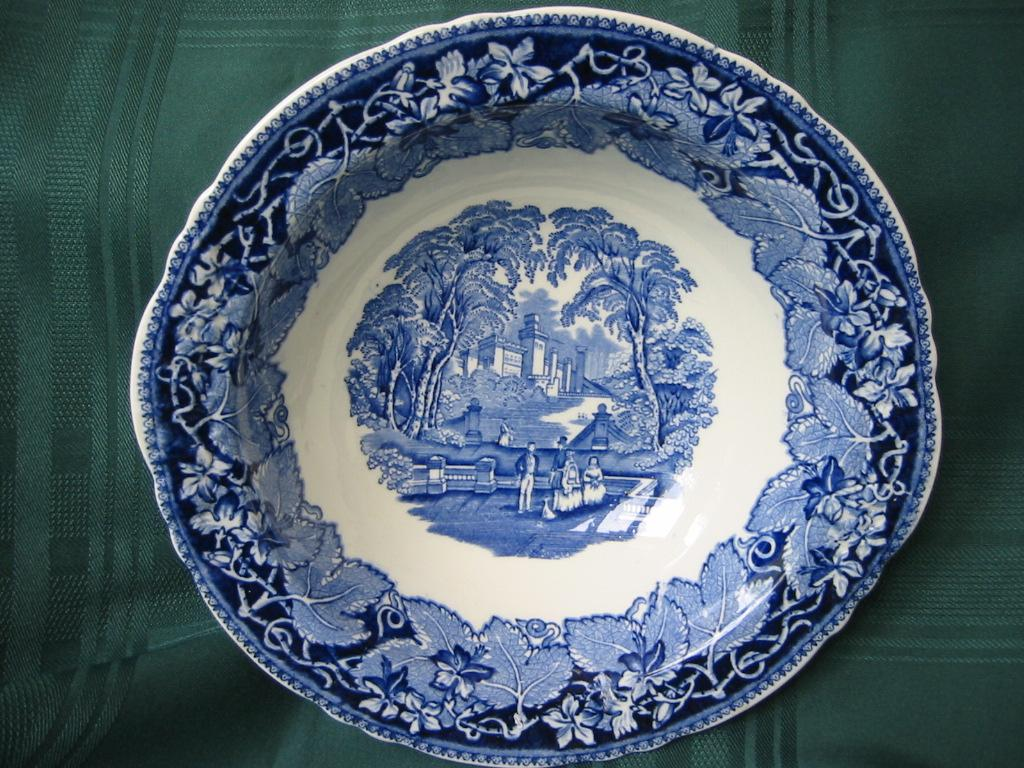 Staffordshire Blue And White Transferware Bowl Masons Pattern Linda S Enticements Antiques Ruby Lane