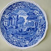 Blue & White Copeland Spode Plate    Pattern Italian  1930's