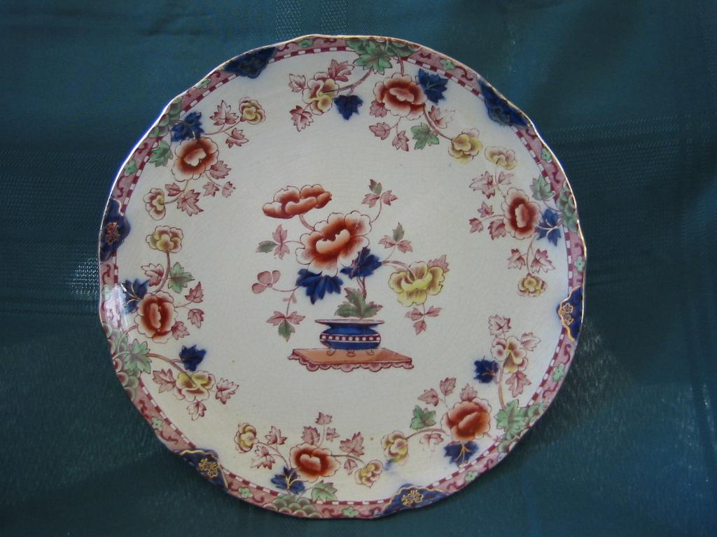 "Polychrome English Oriental Plate  Albert E. Jones  Pattern "" Pekin"""