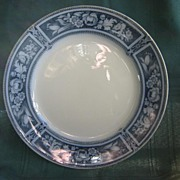 """Flow Blue Plate ( 3 ) 10 1/2""""  Ford and Sons  Pattern """"Brampton"""""""