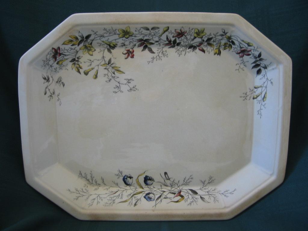 Parisian Granite Platter  T.C. & F.B. Tunstall   Pattern Jasmine
