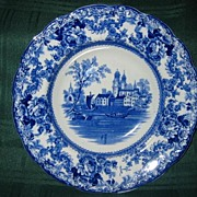 Antique Staffordshire Flow Blue Soup Plate Circa 1890: F. Winkle & Co.