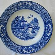 "Flow Blue Bowl "" Olde Alton Ware""   England"