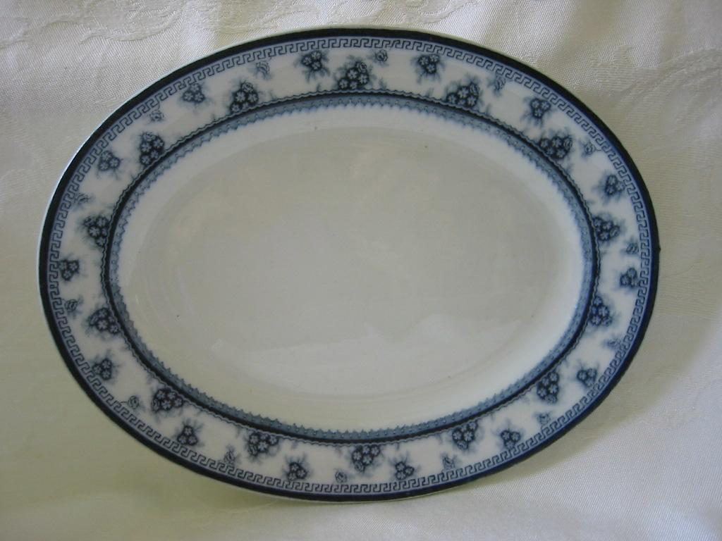 "Small Platter Blue and White by Woods and Sons  Pattern ""Torbrex"""