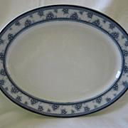 "Blue and White Platter by Woods and Sons  Pattern ""Torbrex"""