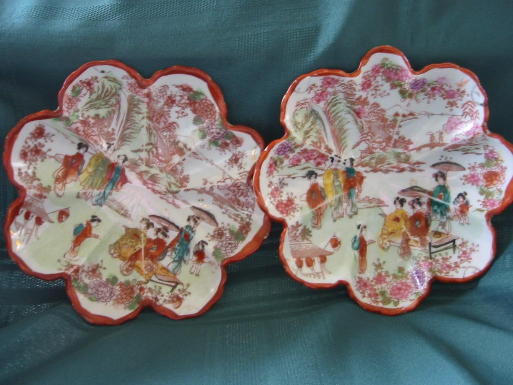 Two Japan Geisha Girl Porcelain Bowls