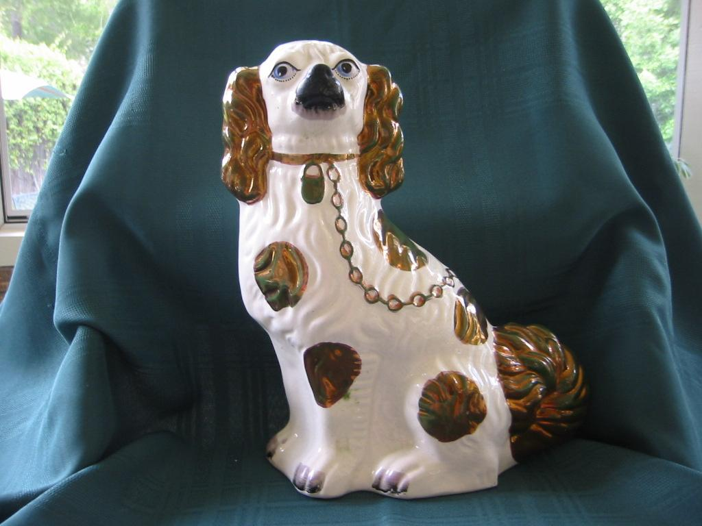 White with Luster Staffordshire Dog   Spaniel
