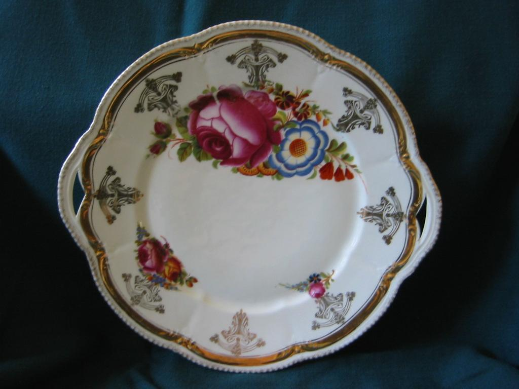 Serving Floral Plate from Germany