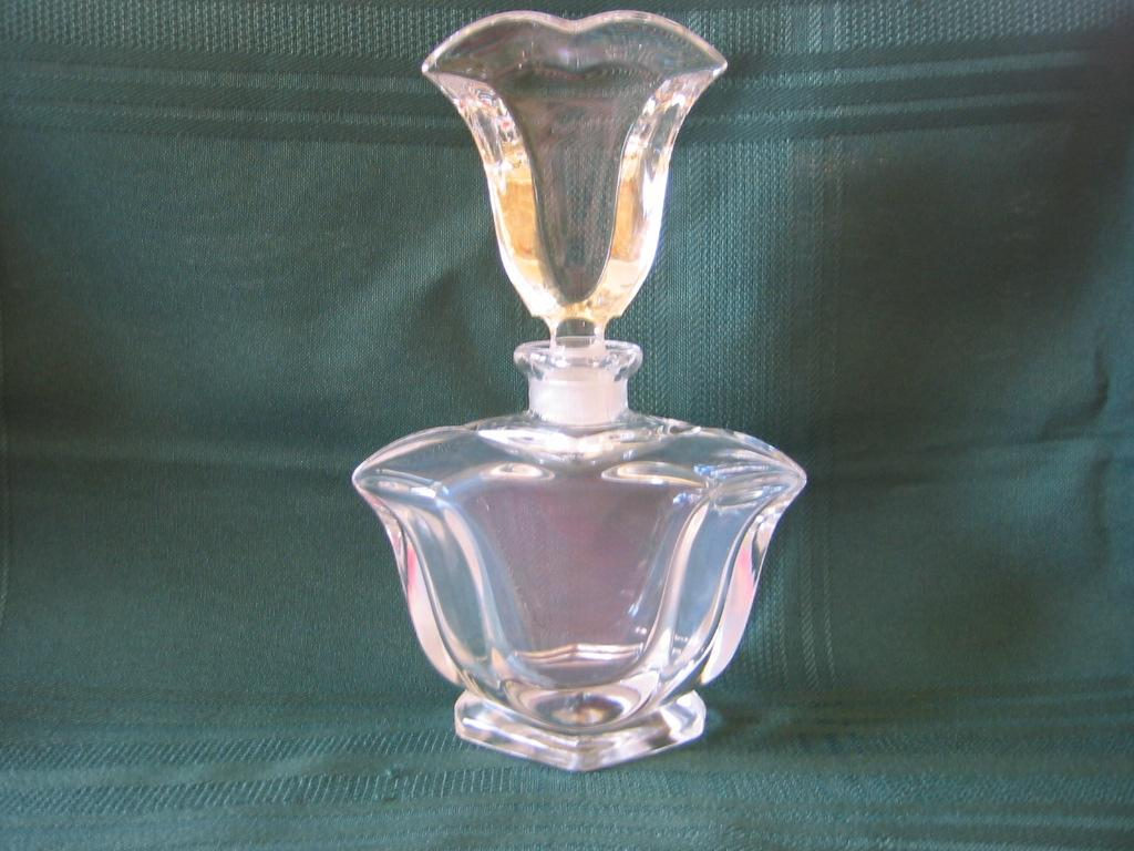 Clear Beveled Glass Perfume Bottle