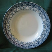 Blue and White Transferware Bowl by Cetem Ware 1908