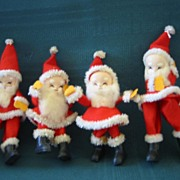 Adorable Small Red Felt Christmas Santa's ( 3 )