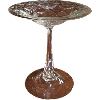 Antique Brilliant Cut Serving Compote