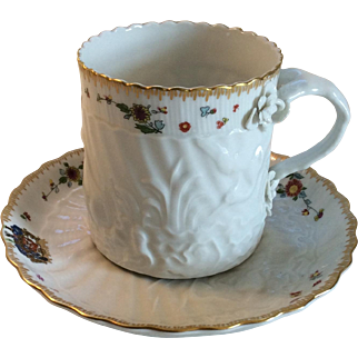Mottahedeh Swan Service Cup and Saucer
