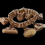 Vintage Gold filled Fob/Seal Charm Bracelet