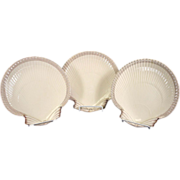 Antique Wedgwood Creamware Scallop Shell Plates