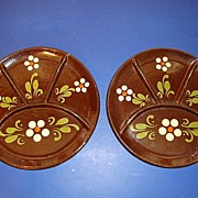 Pair of French old plates from Alsace