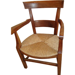 Early 19th century French armchair from South of France, fruit-wood, circa 1830
