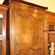 French wedding armoire bonnetiere circa 1800