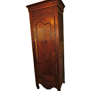 French bonnetiere (cabinet one door) Louis XV Provincial from the Western France, circa 1830
