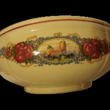 Large French salad bowl by Obernai Sarreguemines Alsatian decor
