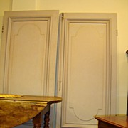 Pair of French Paneled Doors Circa 1850