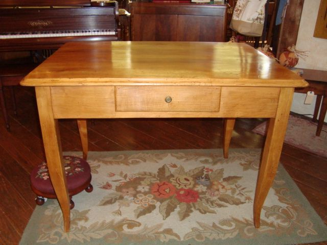 Charmant French Farm Table Or Table Desk With One Drawer Circa 1850 : Provinces De  France | Ruby Lane