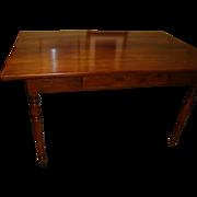 French walnut Louis Philippe period farm table, walnut, circa 1840