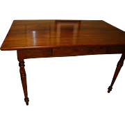 French walnut Louis Philippe period farm table, walnut, circa 1840