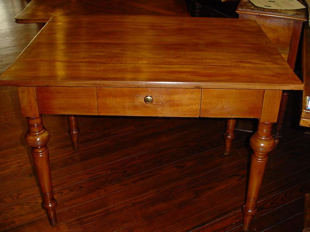 French farm table, walnut with drawer circa 1850