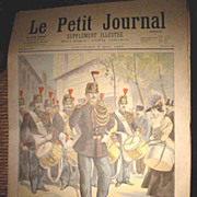 Authentic antique French newspaper dating 1896