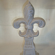 Large French Fleur de Lys made of earthenware
