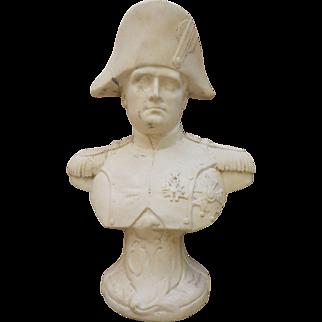 "Old Bust statue French Emperor Napoleon Bonaparte, h-8"""