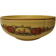 Large French salad bowl by Obernai Sarreguemines, Alsace