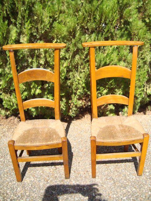 Pair of French prayer chairs Circa 1870
