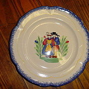 Pair of French faience plates  by Pornic