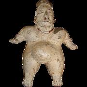 Antique Pre-Columbian Jalisco Polychrome Ceramic Female Figure