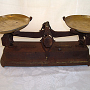 French cast iron balance scale early 1900