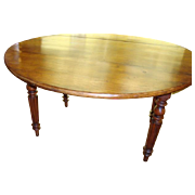 French Louis Philippe period drop-leaf table, solid fruit-wood, circa 1850